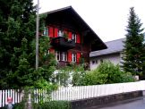 Typical Swiss house in the residential area of Interlaken