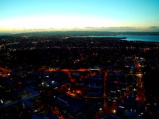 As day turns to night from the SkyTower