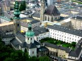 Birds eye view of the Altstadt from Hohensalzburg Fortress