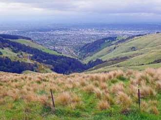 Looking down over Christchurch from The Port Hills on Summit Road, Sugarloaf Scenic Reserve - Things to Do in Christchurch - The Trusted Traveller
