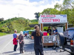 The World Famous Kaikoura Seafood BBQ - Driving from Christchurch to Marlborough - The Trusted Traveller
