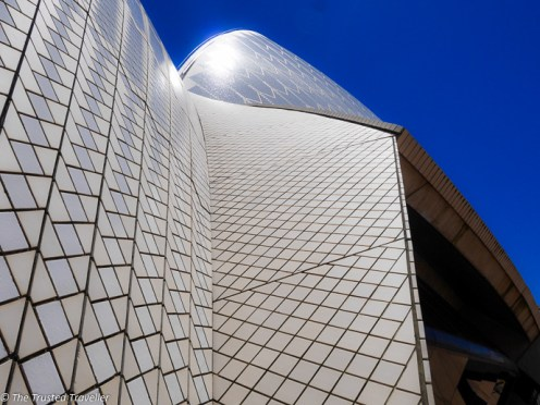 Close up with the Sydney Opera House