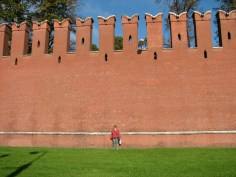 The massive Kremlin Walls, Moscow