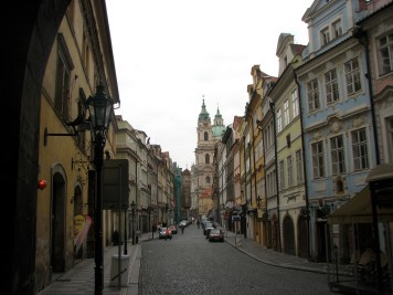 The cobblestoned streets of Prague