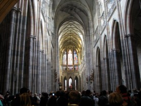 Inside St Vitus Cathedral, Prague