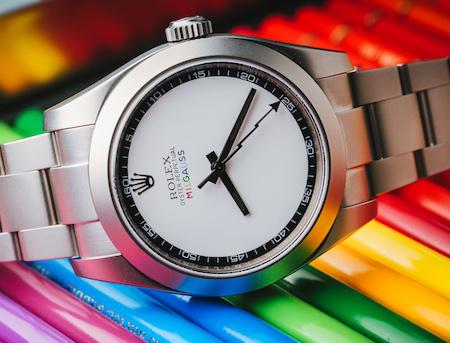Rolex Milgaus Pride (courtesy titanblack.co.uk)