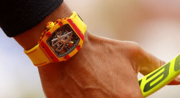 Rafael Nadal's Richard Mille watch in action