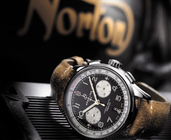 Breitling and Norton motorcycles. Um, OK