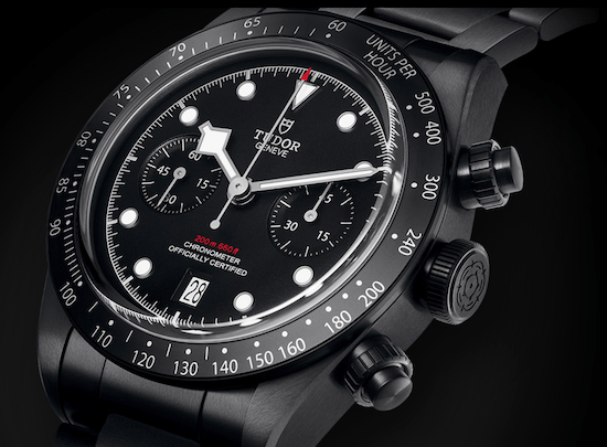 Tuod Black Bay Chrono Dark close-up