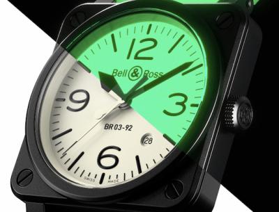 Bell & Ross glow-in-the-dark watch