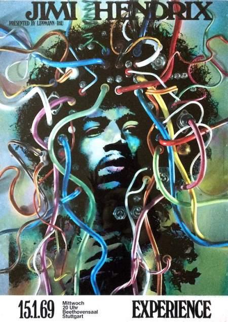 Jimi Hendrix poster from 1969 (courtesy record mecca.com)