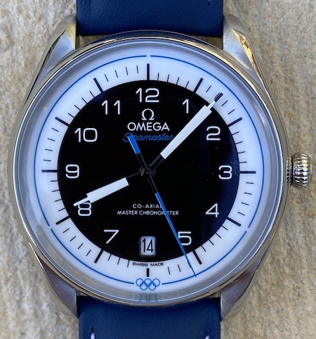 OMEGA Olympic watch close up