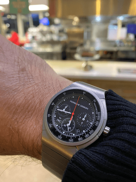 Food for thought: the IWC Porsche Design Titanium Chronograph (courtesy thetruthaboutwatches.com)