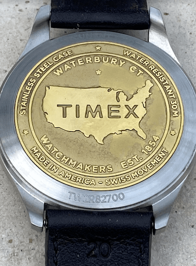 Timex American Documents bronze caseback (courtesy thetruthaboutwatches.com)