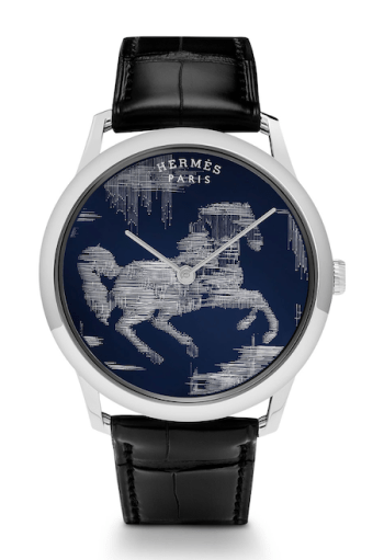 New watch roundup: Hermès Slim d'Hermès Cheval Ikat
