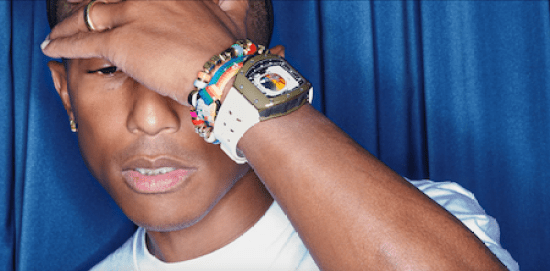 Pharrell Williams wearing Richard Mille RM 52-05