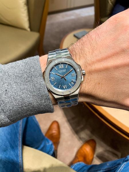 Chopard Alpine Eagle on Mr. Nice Watch's wrist