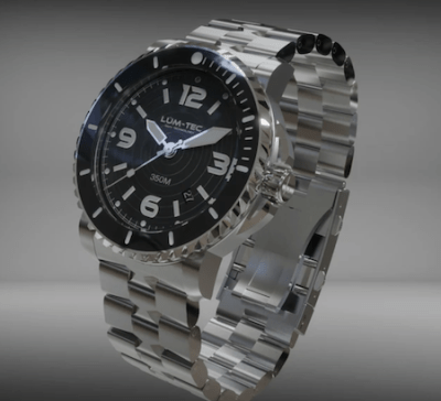 LÜM-TEC new 350M-1 stainless steel dive watch