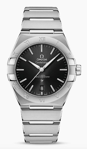 OMEGA with black dial