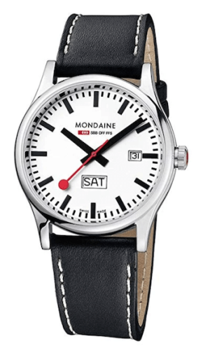 Official Swiss Railways wacth Sport Day Date - white