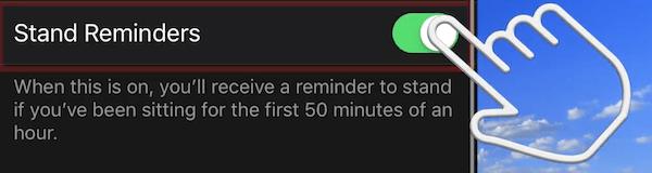 Apple Watch stand reminder edited