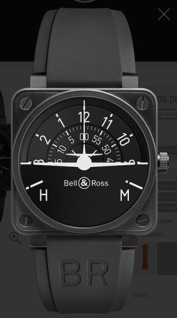 Bell & Ross cockpit classic: BR01-92 Turn Coordinator
