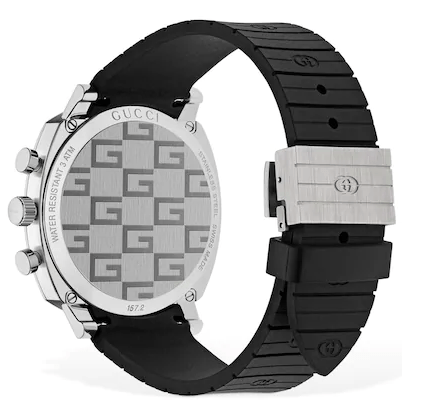 Gucci GG Grip Rubber Strap Watch back