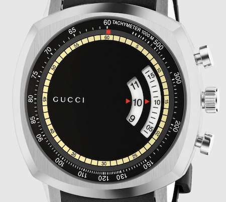 Close up of new Gucci watch