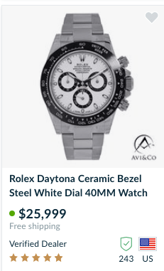 Rolex sales Daytona on Chrono24