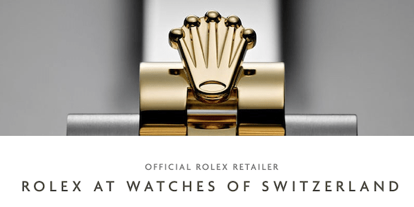Rolex sales at Watches of Switzerland