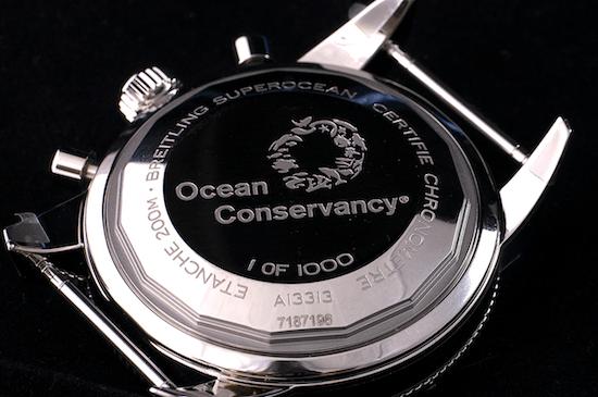 Breitling Superocean Heritage Ocean Conservancy Limited Edition greenwashing caseback