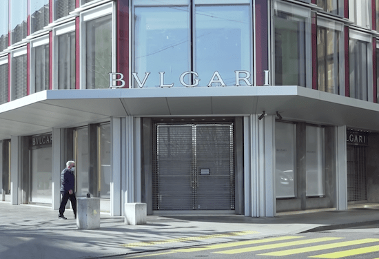 Bulgari - Geneva watch dealers closed (courtesy thewatches.tv)