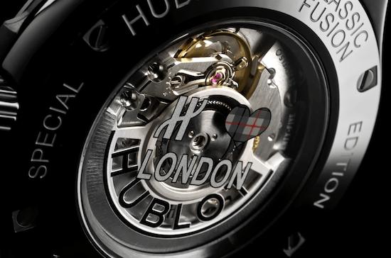 Hublot Classic Fusion Special Edition London caseback
