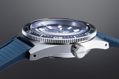 "Seiko Prospex SLA037 (1965 ""62MAS"" Dive Watch Recreation) LE side view"