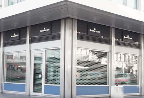 Shuttered Blancpain - watch dealers Geneva