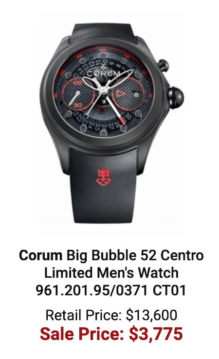 The biggest loser - Corum Big Bubble 52 Centro
