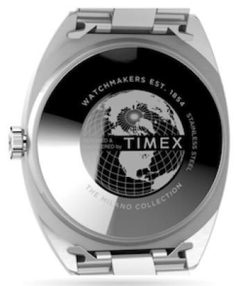 Timex Milano XL 38mm Stainless Steel Bracelet caseback