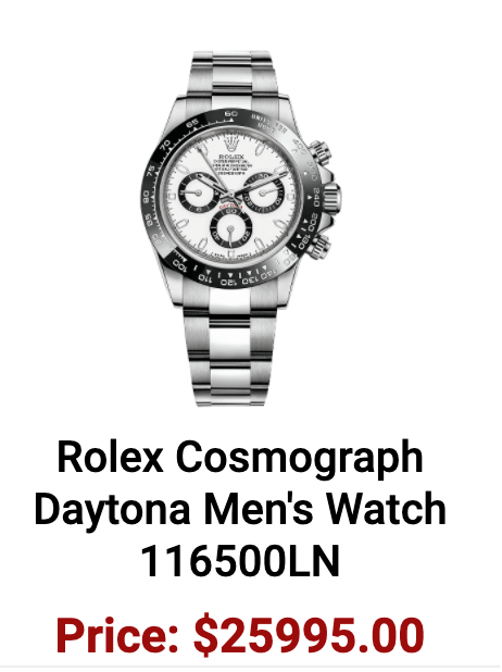 Authentic watches Rolex Daytona