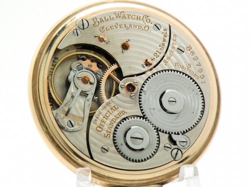 Ball Watch Co. railway watch movement