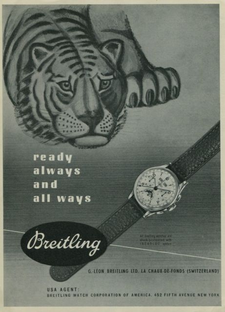 Breitling ad 1949