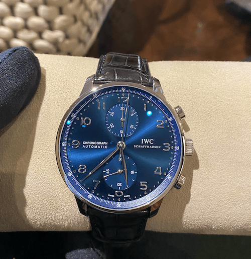 Not one of those pre-owned watches: a brand new IWC Portofino Chronograph