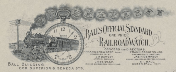 Railway watch - Web C. Ball's stationary 2