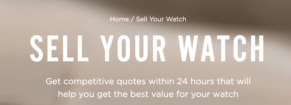 Watchbox pre-owned watches sell yours! pitch