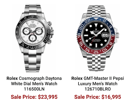 Authentic Watches price crash?