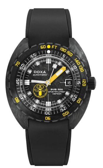 Doxa SUB 300 Carbon Aqua Lung US Divers Sharkhunter LE