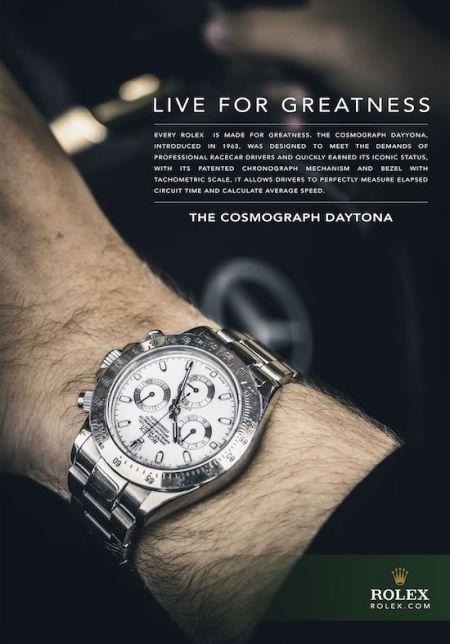 Rolex success - Daytona ad