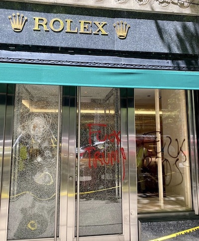 Rolex looted