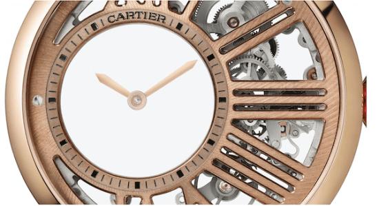 Rotonde de Cartier Mystery Skeleton close up