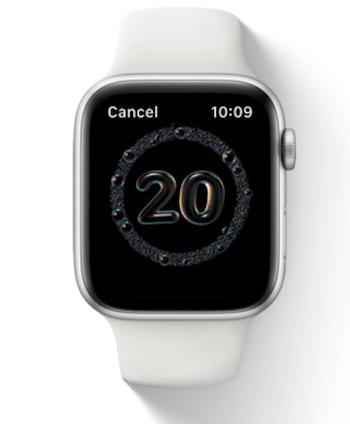 Apple watchOS 7 handwashing app