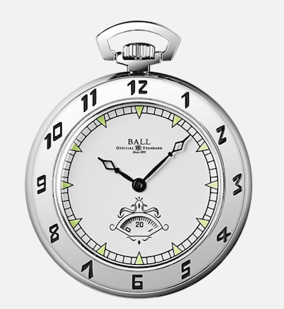 Ball Trainmaster Secometer Pocket watch